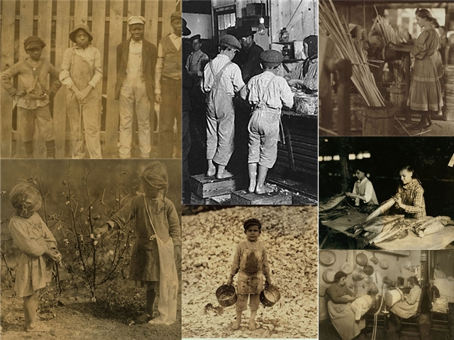 collage of child workers